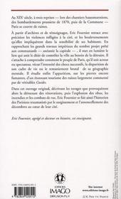 Paris en ruines ; du Paris haussmannien au Paris communard - 4ème de couverture - Format classique