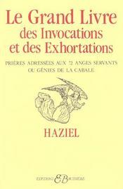Le Grand Livre Des Invocations Et Des Exhortations - Intérieur - Format classique