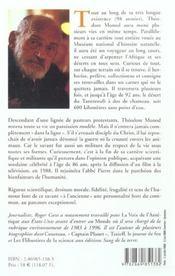 Theodore monod - 4ème de couverture - Format classique