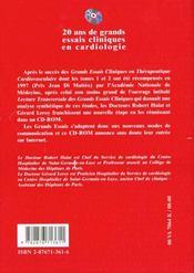 20 ans de grands essais cliniques en cardiologie ; de l'empirisme aux preuves - 4ème de couverture - Format classique