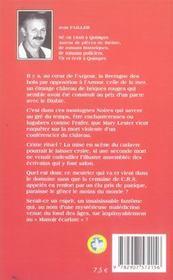MARY LESTER T.5 ; le manoir écarlate - 4ème de couverture - Format classique