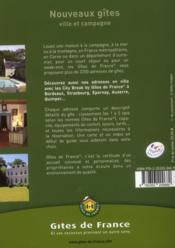 Nouveaux gîtes ; ville et campagne (édition 2013) - 4ème de couverture - Format classique