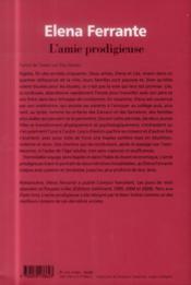 L'amie prodigieuse - 4ème de couverture - Format classique