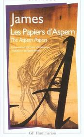 Vente livre :  Les papiers d'Aspern ; the Aspern papers  - Henry James