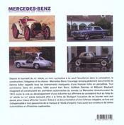 Mercedes-Benz. automobiles de prestige - 4ème de couverture - Format classique