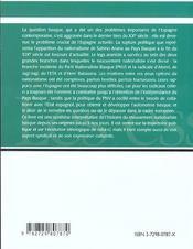 Le Nationalisme Basque - 4ème de couverture - Format classique