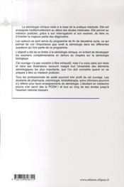 Éléments de sémiologie clinique et biologique utiles pour l'ecn - 4ème de couverture - Format classique