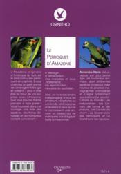 Perroquet D Amazonie - 4ème de couverture - Format classique