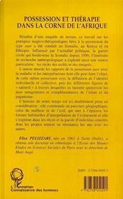 Possession Et Therapie Dans La Corne De L'Afrique - 4ème de couverture - Format classique