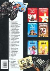 Spirou et Fantasio t.34 ; aventure en Australie - 4ème de couverture - Format classique