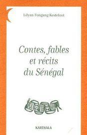 Contes, fables et recits du Senegal - Couverture - Format classique