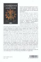 Numerologie Revelent Votre Avenir (La) - 4ème de couverture - Format classique