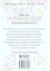 Pour Des Jeunes Maries Extraordinaires Nlle Edition - 4ème de couverture - Format classique