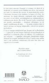 La symbologie des reves t.2 ; la nature - 4ème de couverture - Format classique
