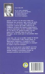 Mary Lester T.6 ; Boucaille Sur Douarnenez - 4ème de couverture - Format classique