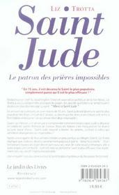 Saint jude, le patron des prières impossibles - 4ème de couverture - Format classique