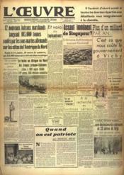 Oeuvre (L') N°9553 du 28/01/1942 - Couverture - Format classique