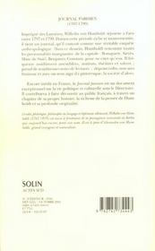 Journal Parisien 1797-1799 - 4ème de couverture - Format classique