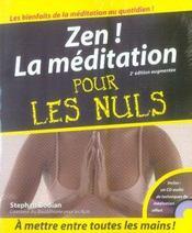 Zen ! la méditation pour les nuls (2e édition) - Intérieur - Format classique