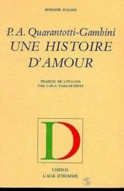 Une Histoire D'Amour - Couverture - Format classique