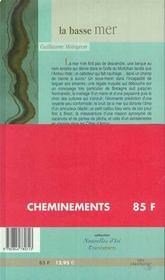 Basse Mer (La) - 4ème de couverture - Format classique