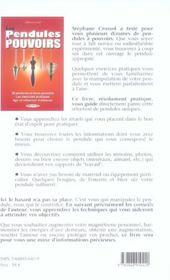 Les Pendules A Pouvoirs - 4ème de couverture - Format classique