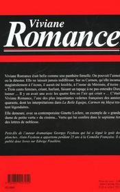 Viviane Romance - 4ème de couverture - Format classique