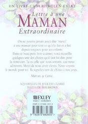 Pour une maman extraordinaire - 4ème de couverture - Format classique