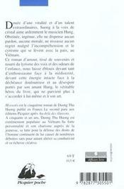 Myosotis - 4ème de couverture - Format classique