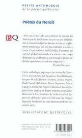 Poetes du noroit - 4ème de couverture - Format classique