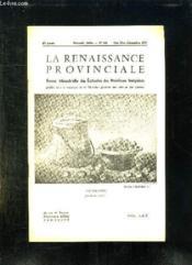 La Renaissance Provinciale N° 140 Octobre Novembre Decembre 1962. Les Marrons Par Felix Cavel... - Couverture - Format classique
