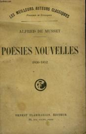 Poesies Nouvelles. 1836-1852. - Couverture - Format classique