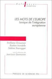 Les mots de l'Europe ; lexique de l'intégration européenne - Couverture - Format classique