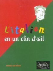L'Italien En Un Clin D'Oeil - Intérieur - Format classique