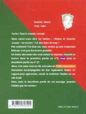 L'Italien En Un Clin D'Oeil - 4ème de couverture - Format classique