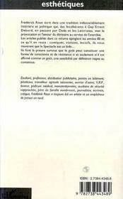 L'Introduction De L'Esthetique - 4ème de couverture - Format classique