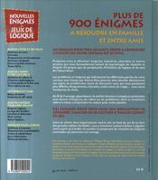 Nouvelles énigmes et jeux de logique t.2 - 4ème de couverture - Format classique