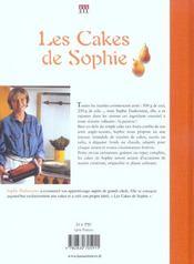 Les cakes de Sophie - 4ème de couverture - Format classique
