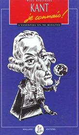 Kant. Je Connais - Intérieur - Format classique