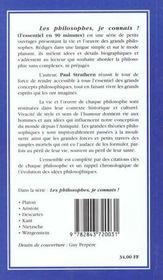 Kant. Je Connais - 4ème de couverture - Format classique