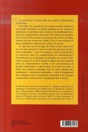 Anthropologie du sacré et sciences de gestion - 4ème de couverture - Format classique