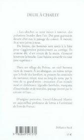 Deuil à chailly - 4ème de couverture - Format classique
