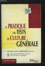 Pratique tests de culture generale - Couverture - Format classique