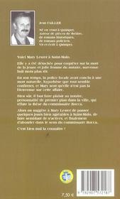 MARY LESTER T.8 ; la cité des dogues - 4ème de couverture - Format classique