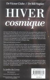 Hiver cosmique, le livre scandale - 4ème de couverture - Format classique