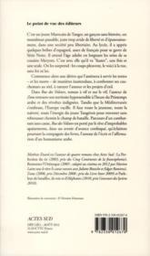 Rue des voleurs - 4ème de couverture - Format classique