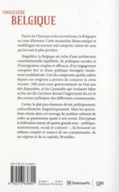 Singulière Belgique - 4ème de couverture - Format classique