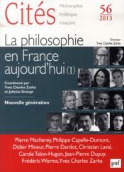 Revue Cites T.56 ; La Philosophie En France Aujourd'Hui - Couverture - Format classique