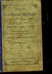 Extraits Des Classiques Francais - Cours Superieurs - Deuxieme Partie : Poesie - Couverture - Format classique