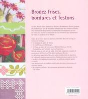 Brodez frises, bordures et festons - 4ème de couverture - Format classique